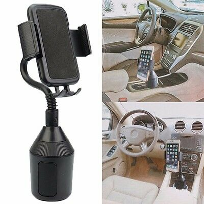 New Universal Adjustable Gooseneck Cup Holder Cradle Car Mount For Cell Phone