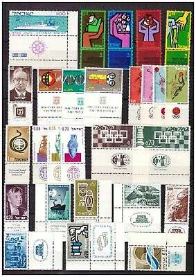 s15155) ISRAEL MNH** 1963/65, selection of complete sets 27v