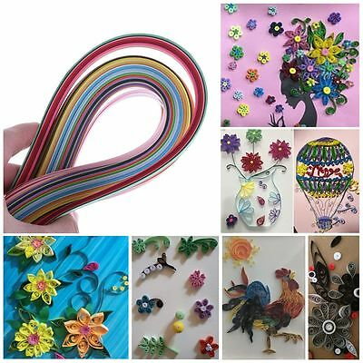180pcs/Pack 5*540mm DIY Craft Quilling Paper Origami 36Colors Stripes