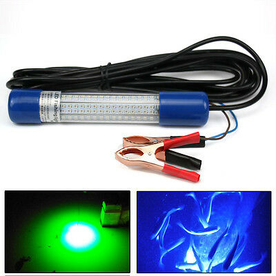 12V Green Night LED Underwater Submersible Fishing Fish Lure Light Clip-on