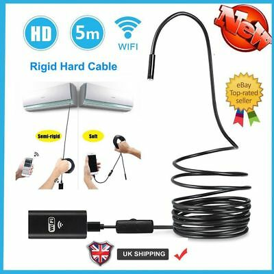 720P Wifi Endoscope 5M Waterproof Rigid Borescope Inspection Camera For Iphone