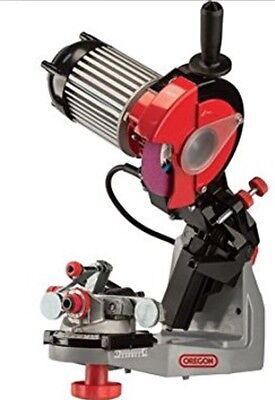"""*SALE* OREGON 240V Chainsaw Chain GRINDER Sharpener HYDRAULIC ASSIST Up To 3/4"""""""