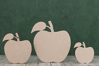 mdf wooden apple shape, wood cut out craft blank, teachers end of year gift tag