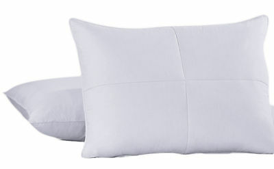 Goose Feather and White Down Pillows Cotton Cover Single or Set of 2 Bed Pillows