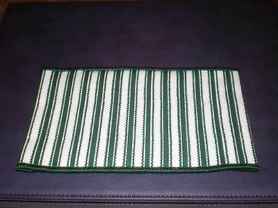Longaberger Small Handle Tie - Green Ticking