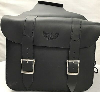 Harley Davidson Cow Leather Cruiser Motorcycle Saddle Bag - Chrome FreeTic 2011