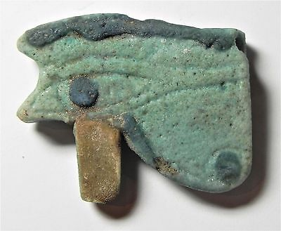 Zurqieh - Af1771- Ancient Large Faience Eye Of Horus Amulet, 1075 - 600 B.c