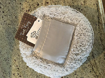 Little Giraffe Luxe Chenille Round Gray Tooth Fairy Pillow NEW