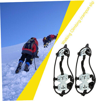 18 Teeth Crampons Anti Fall Skiing Mountain Climbing Non Slipping Shoes Cover M*