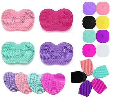Brush Cleaner Egg Washer Scrub Rinse Makeup Paint Silicone Pad Mat Suction Cup