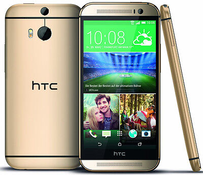 "New HTC One M8 AT&T 4G LTE GSM Unlocked 32GB 5"" Android Smartphone Gold"