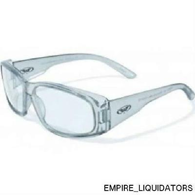 GLOBAL VISION Safety RX-G Gray Glasses with Clear Lens w/ Tags Attached  -A
