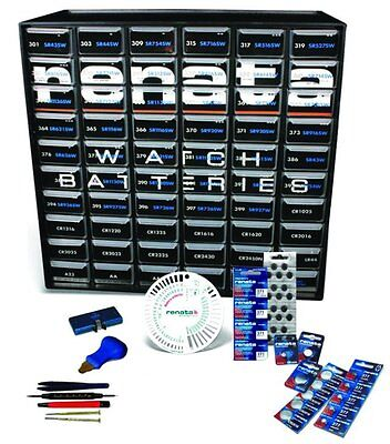NEW Renata 876005 Watch Battery Replacement Kit All Basic Sizes Jeweler Supples