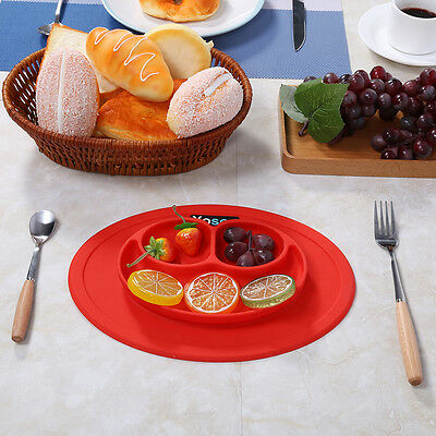 One-piece Smile Silicone Mat Kids Suction Table Food Tray Placemat Dish Lovely A