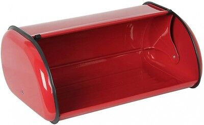 Home Basics Stainless Steel Bread Storage Box in Red Metal Baked Treats BB40202