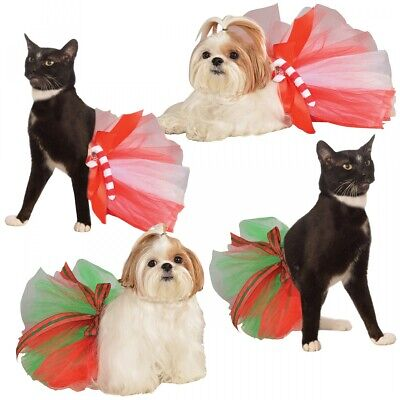 Holiday Tutu Costume Pet Christmas Fancy Dress