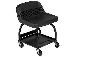 Rolling Heavy Duty Shop Seat Stool Chair Garage Tool Tray Mechanic Electrican