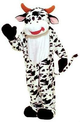ADULT BLACK AND WHITE COMICAL COW WITH UDDERS COSTUME AA47