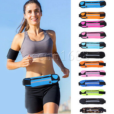Sport Pack Waist Bum Hip Bag Hiking Running Jogging Cycling Belt Zip Pouch