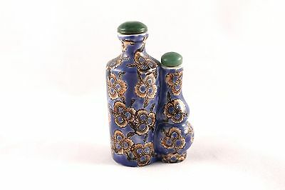 Chinese Porcelain Conjoined Snuff Bottle Signed