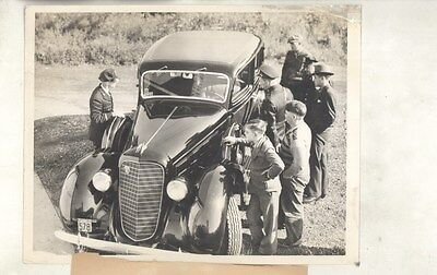 1936 Lincoln at Kidnapping Crime Scene ORIGINAL Press Photo Charles Ross ww7445
