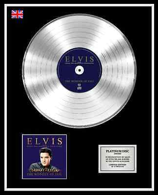 ELVIS PRESLEY Ltd Edition CD Platinum Disc Record THE WONDER OF YOU