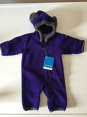 Columbia Baby Tiny Bear II Bunting, New with Tags, Bright Plum, Size 0-3