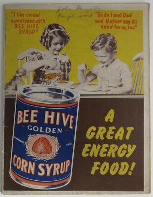 Vintage Bee Hive Corn Syrup School Notebook                (Inv10905)