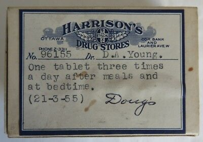 1955 Harrison's Drug Store Pharmacy Pill Box                  (Inv12480)
