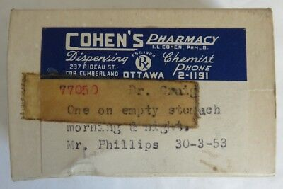 1953 Cohen's Pharmacy Pill Box                   (Inv12475)
