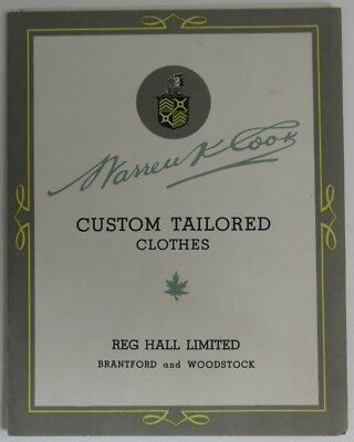 Vintage Warren K. Cook Custom Tailored Clothes Brochure            (Inv10909)