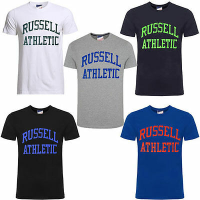 Men's New Russell Athletic Logo T-Shirt Top Cotton T-Shirts - Retro Vintage