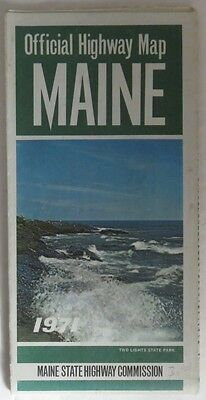 1971 Maine Highway Travel Map                     (Inv12711)