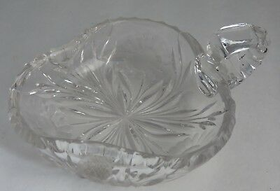 Cg & Co. 3-Leaf Clover Glass Sunflower Candy Dish     (Inv2244)