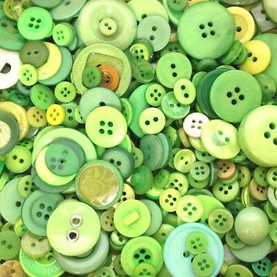 Various Sized Mixed Green Buttons - various pack sizes