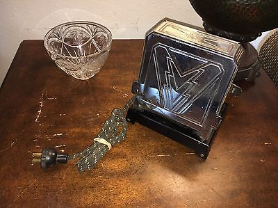 Antique Vintage   Flip Down Toaster Challenge  Works