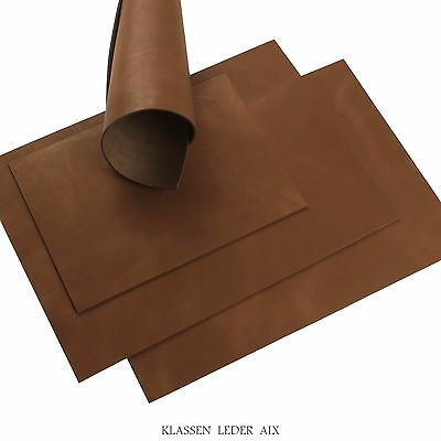 Buffalo Leather Cognac Soft Pull-Up 2,5 mm Thick Real Cowhide Croupon 14