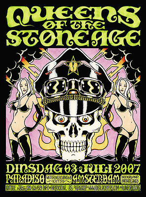 Mint Queens Of The Stone Age Paradiso Amsterdam Concert Poster Alan Forbes Jc50