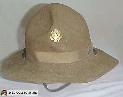 Ww I Us Army Doughboy - Campiagn Hat W/ Officers Hat Badge