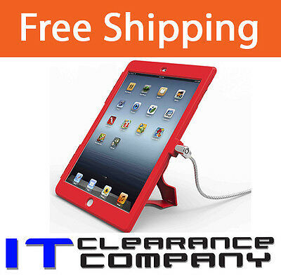 MACLOCKS iPad Air Security Bundle Red OPEN Home Button  *BRAND NEW*  8311410