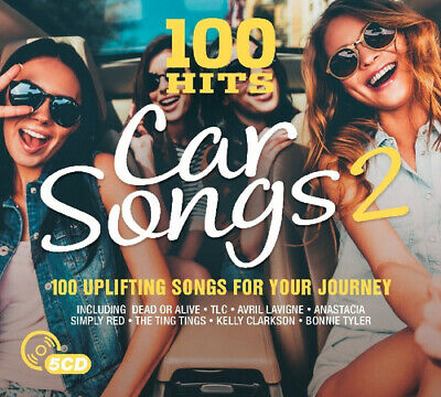 Various Artists : 100 Hits: Car Songs 2 CD Box Set 5 discs (2017) Amazing Value