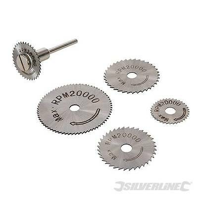 HSS Saw Disc Set 6pce 22, 25, 32, 35 & 44mm Hobby Tool Rotary Tool Accessories
