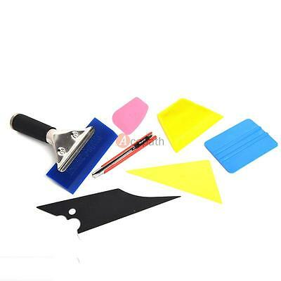 7PCS Car Auto Window Vinyl Film Scraper Wrapping Tint Squeegee Home Tool Kit