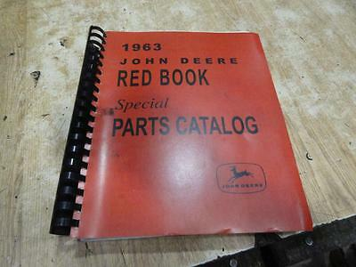 1963 John Deere Special Parts Red Book