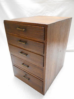 Antique Sugi Wood Merchants Office Box Japanese Drawers Circa 1930s #617