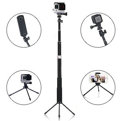 Telescopic Pole Selfie Stick Tripod Stand For GoPro Hero 5 Session Camera Phone