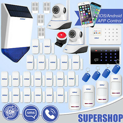 APP Control G18 GSM SMS Home Alarm System WiFi HD IP Camera with External Siren
