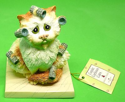 """Comic and Curious Cats New Rare Figurine """" Bed Head """" A7690 New in Box Free Ship"""