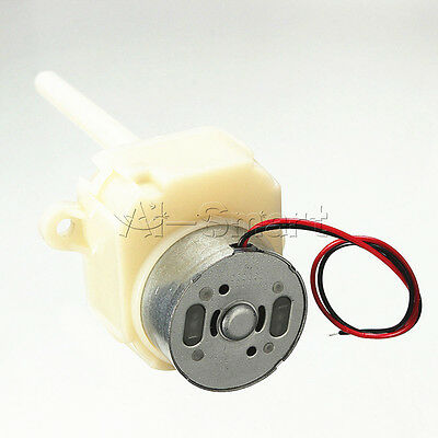 DC 6V 12V 8-16RPM Long Shaft Turbine Worm Gear Motor Slow Reduction Gear Box AS
