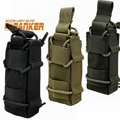 1000D Tactical Molle Pistol Magazine Pouch Flashlight Holster Bag for Vest Belt